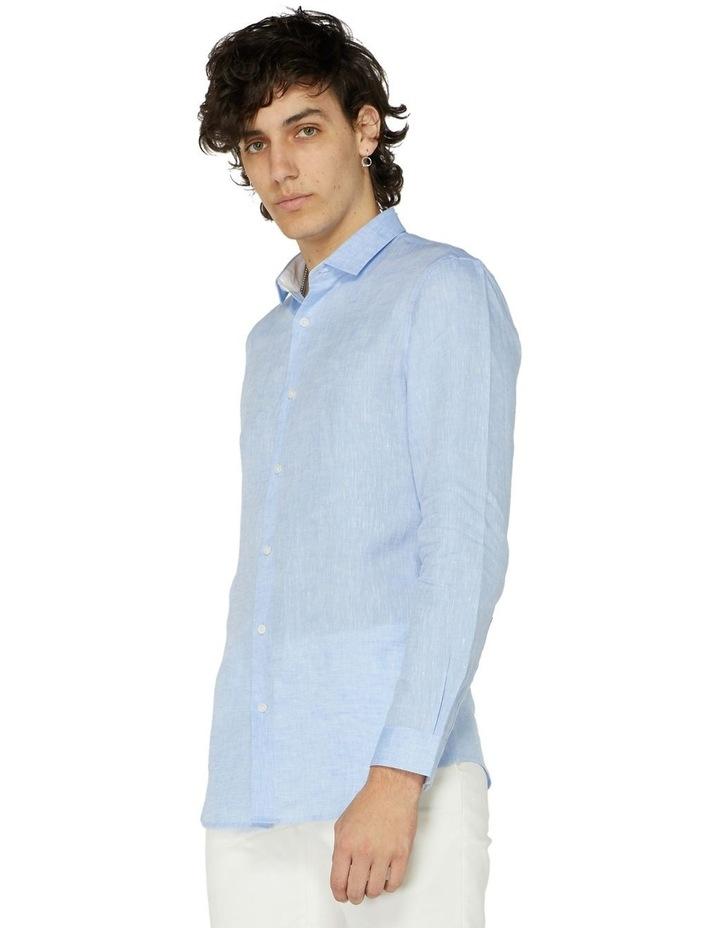Blue Linen Resort Shirt image 2