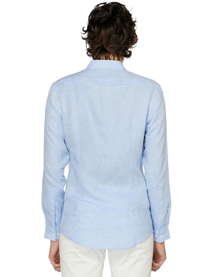 Blue Linen Resort Shirt image 3