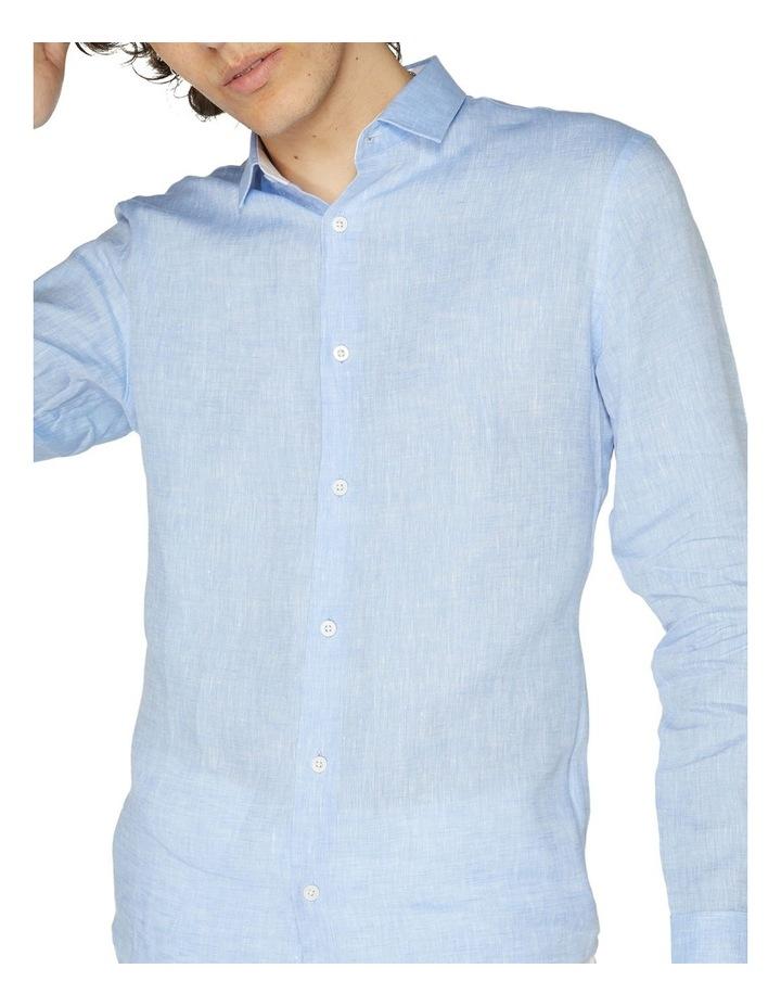 Blue Linen Resort Shirt image 4