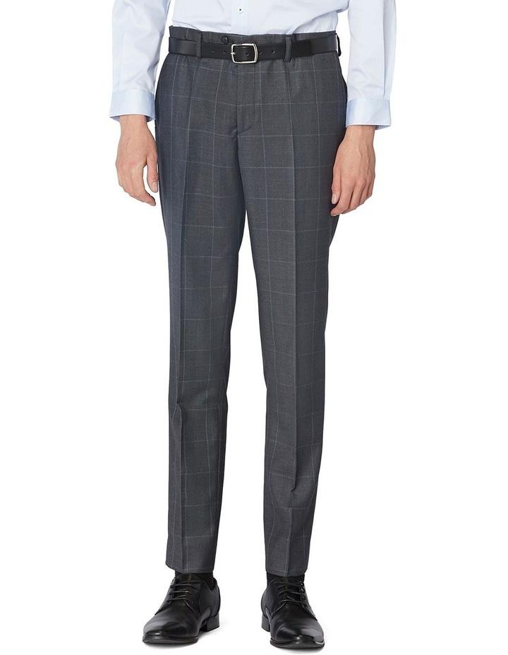 Charcoal Check Suit Pants image 1