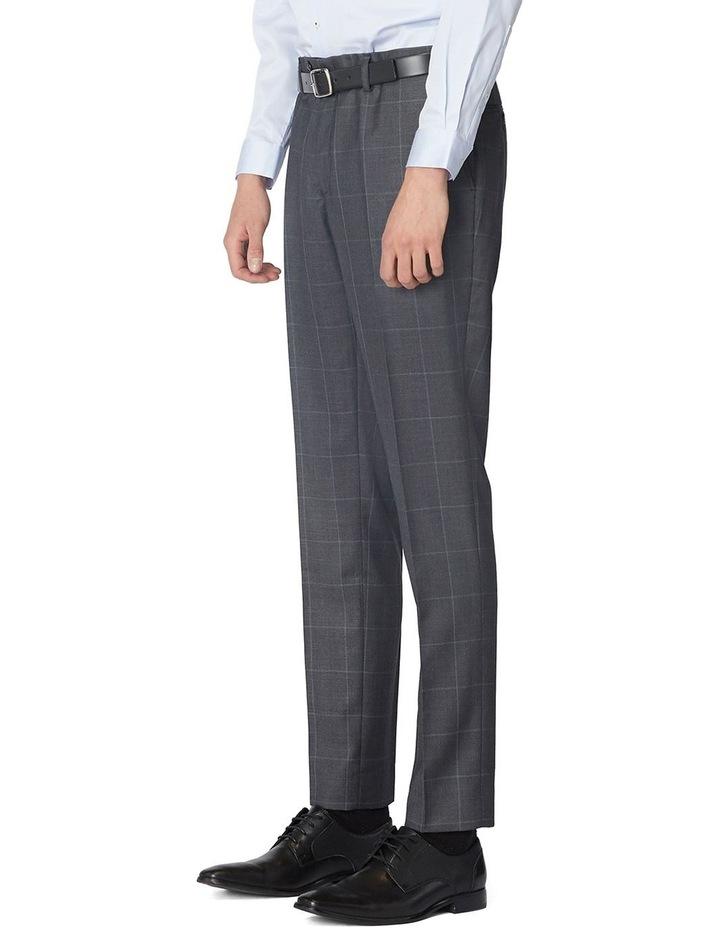 Charcoal Check Suit Pants image 2