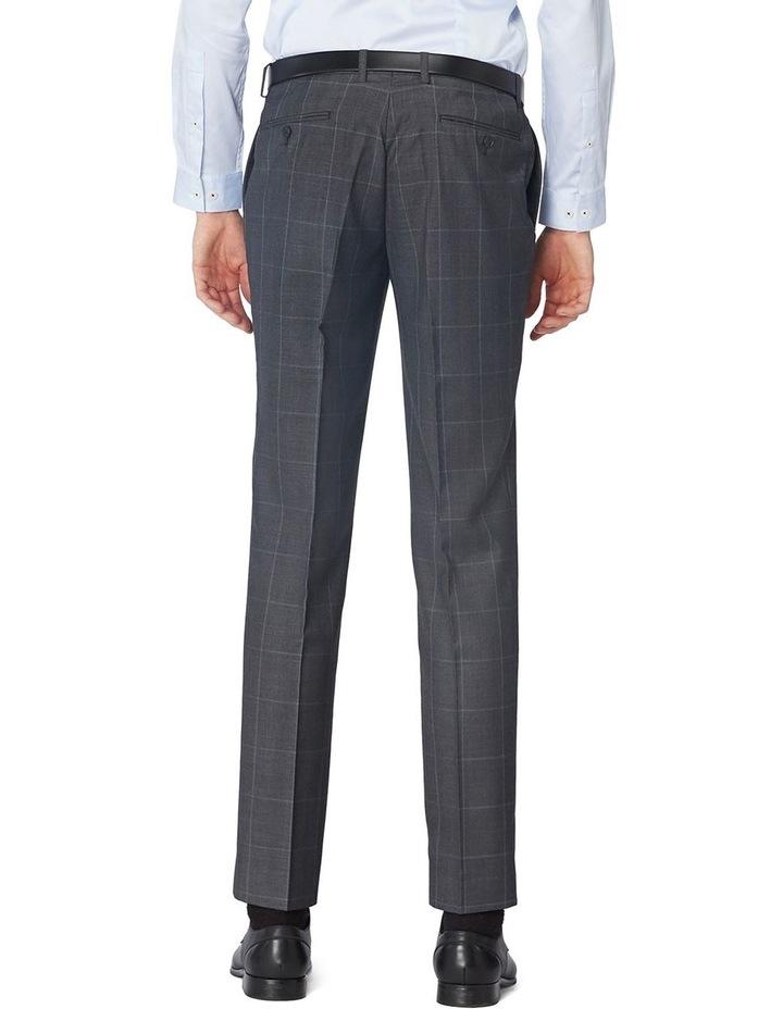 Charcoal Check Suit Pants image 3