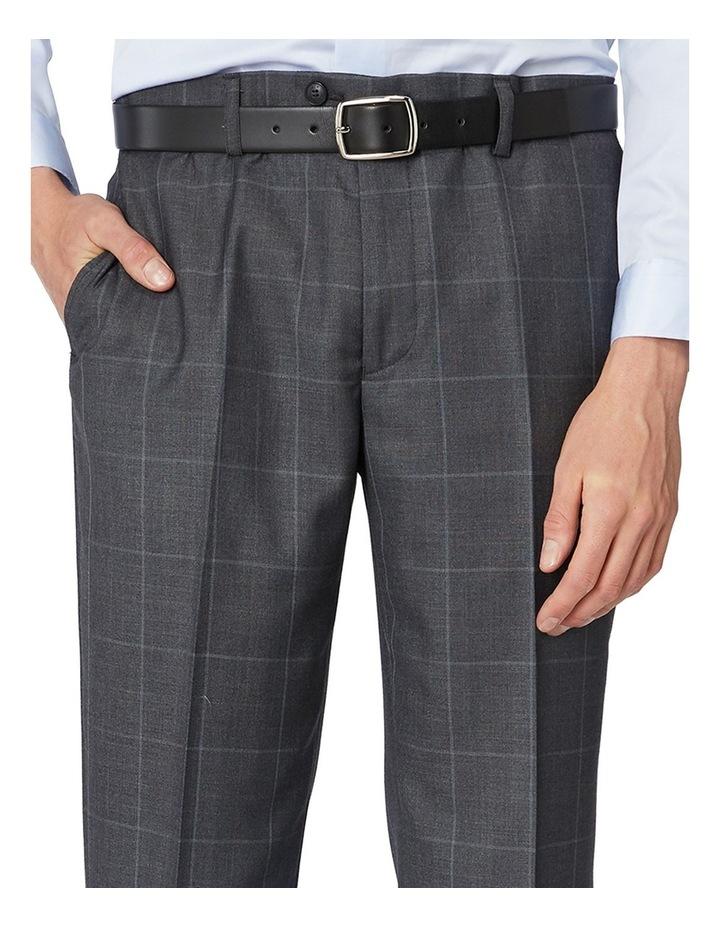 Charcoal Check Suit Pants image 4