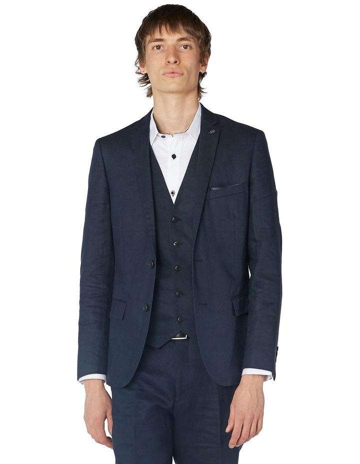 Navy Linen Suit Jacket image 1