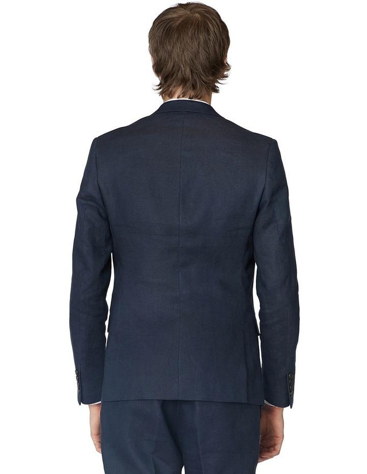Navy Linen Suit Jacket image 3