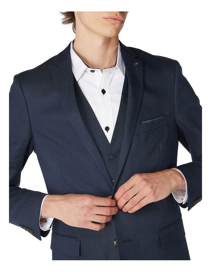 Navy Linen Suit Jacket image 4