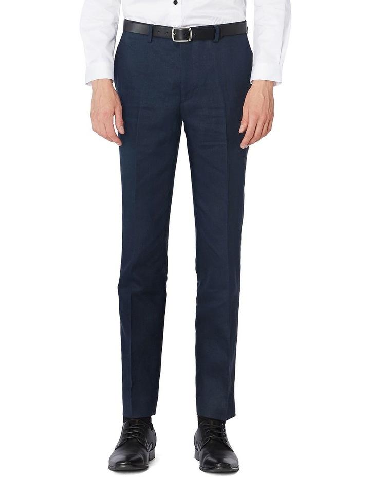 Navy Linen Suit Pants image 1