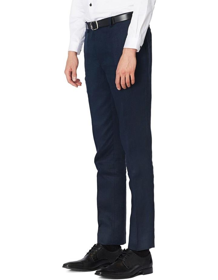 Navy Linen Suit Pants image 2