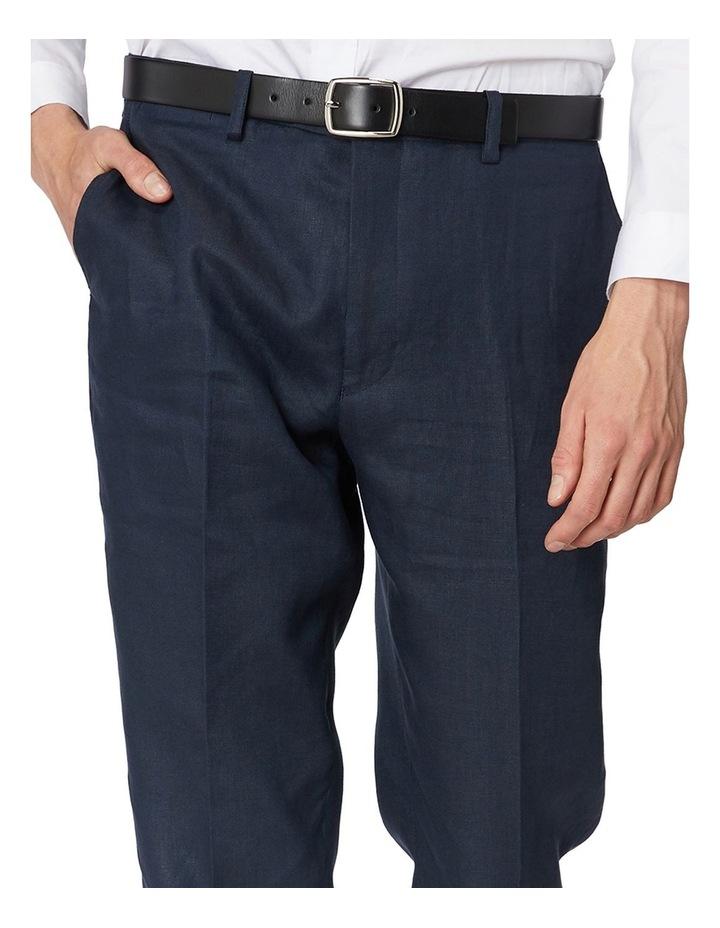 Navy Linen Suit Pants image 4