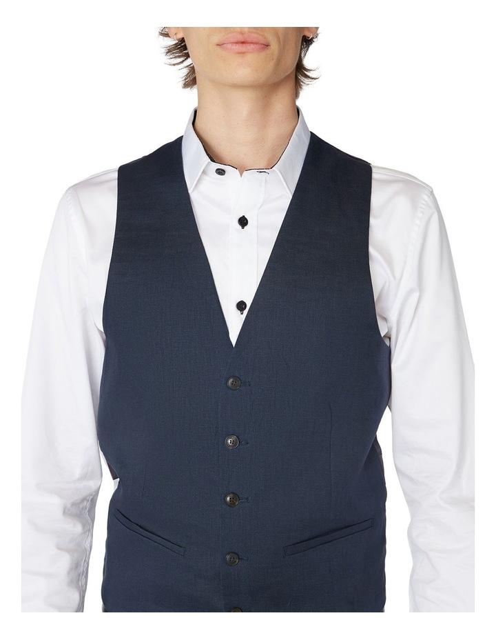 Navy Linen Waistcoat image 4