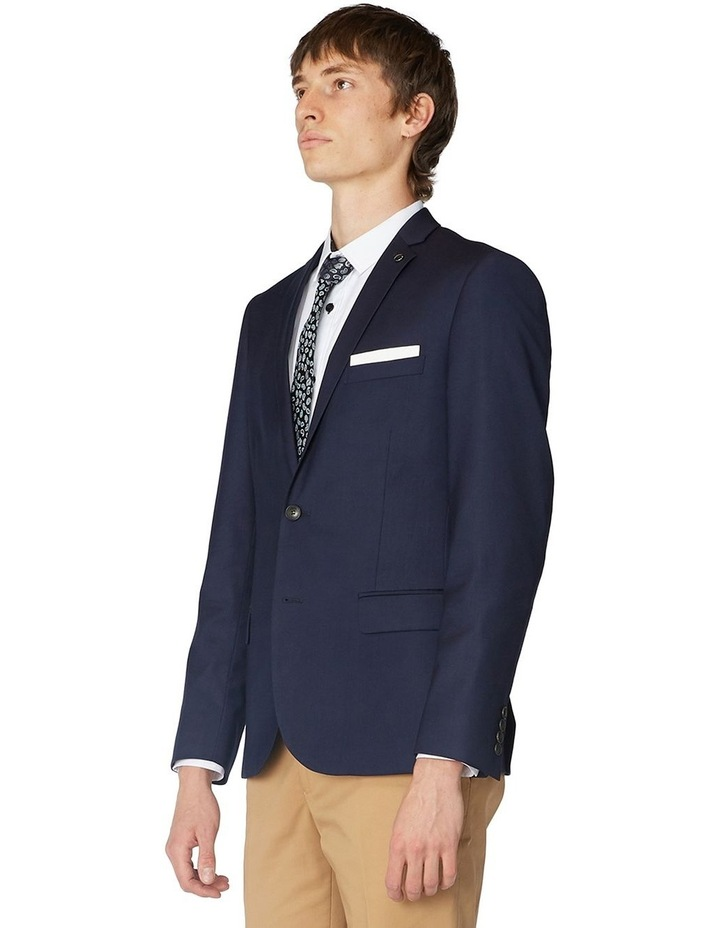 French Navy Stretch Suit Jacket image 2