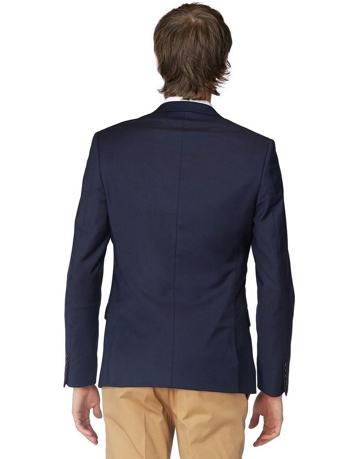 French Navy Stretch Suit Jacket image 3
