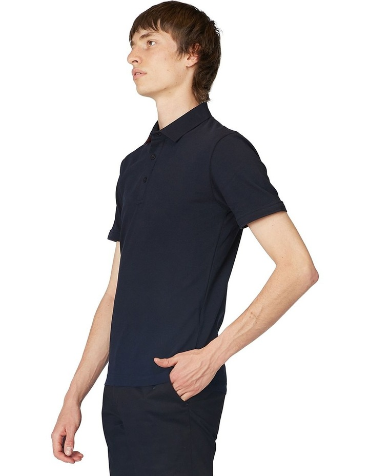 Navy Trimmed Polo image 2