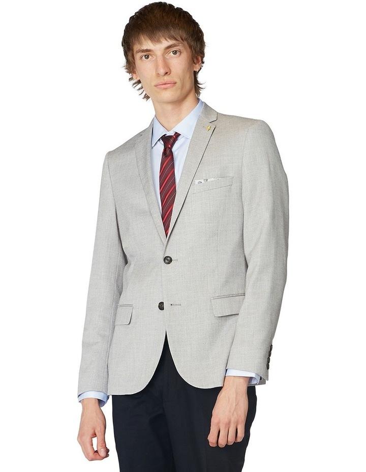 Grey Textured Blazer image 1