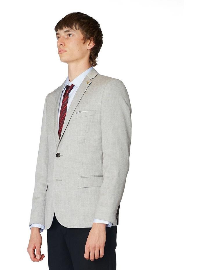 Grey Textured Blazer image 2
