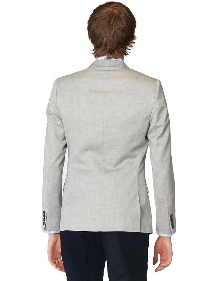 Grey Textured Blazer image 3