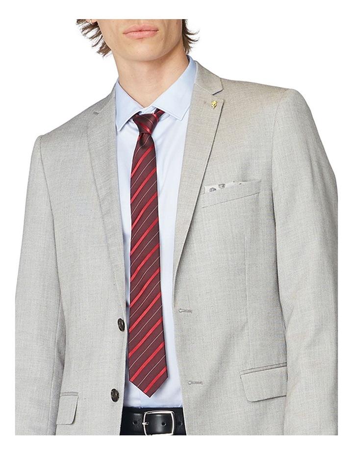 Grey Textured Blazer image 4