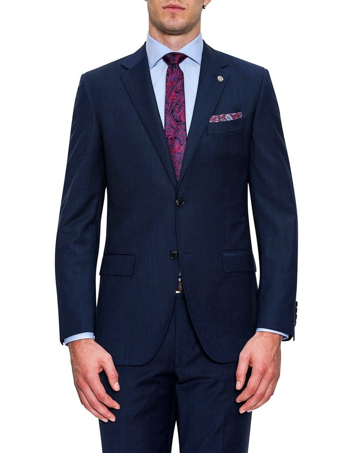 Navy Micro Textured FCF302 Suit Jacket image 1