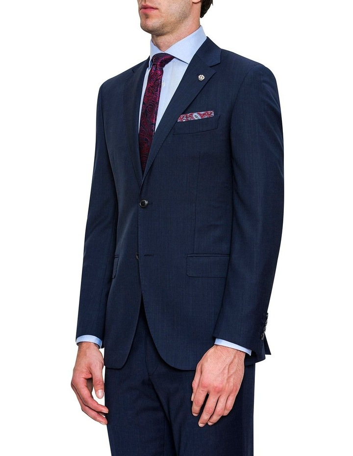 Navy Micro Textured FCF302 Suit Jacket image 2