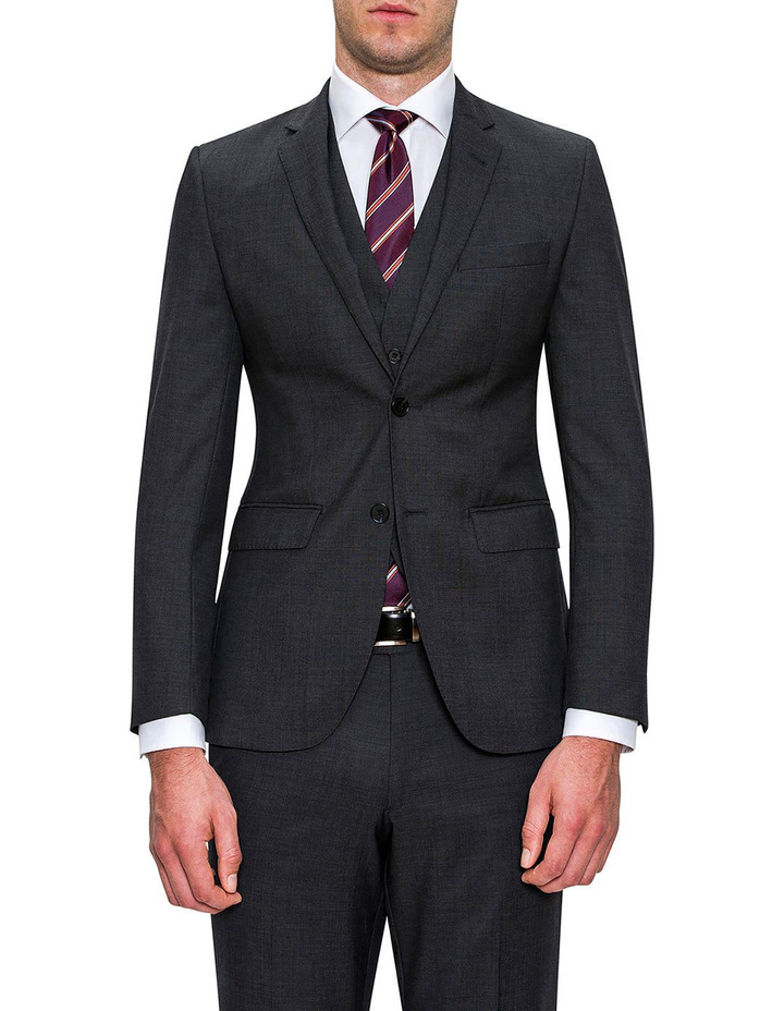 Charcoal Neat F2800 Suit Trouser image 1
