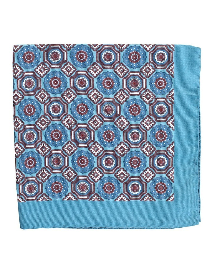 Medaillon Pocket Square Teal image 1