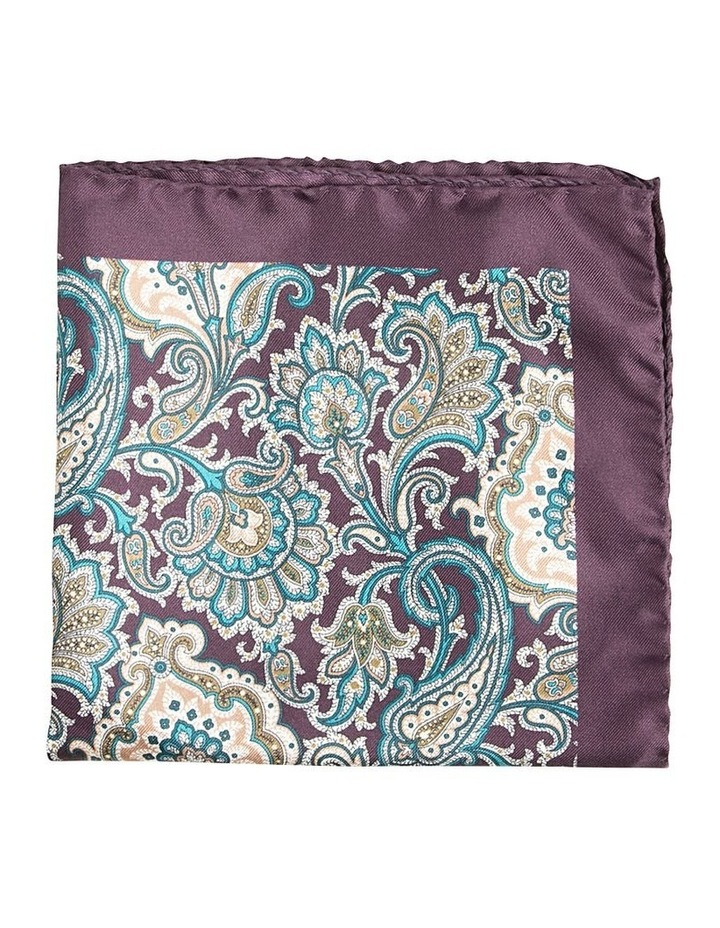Paisley Pocket Square Purple image 1