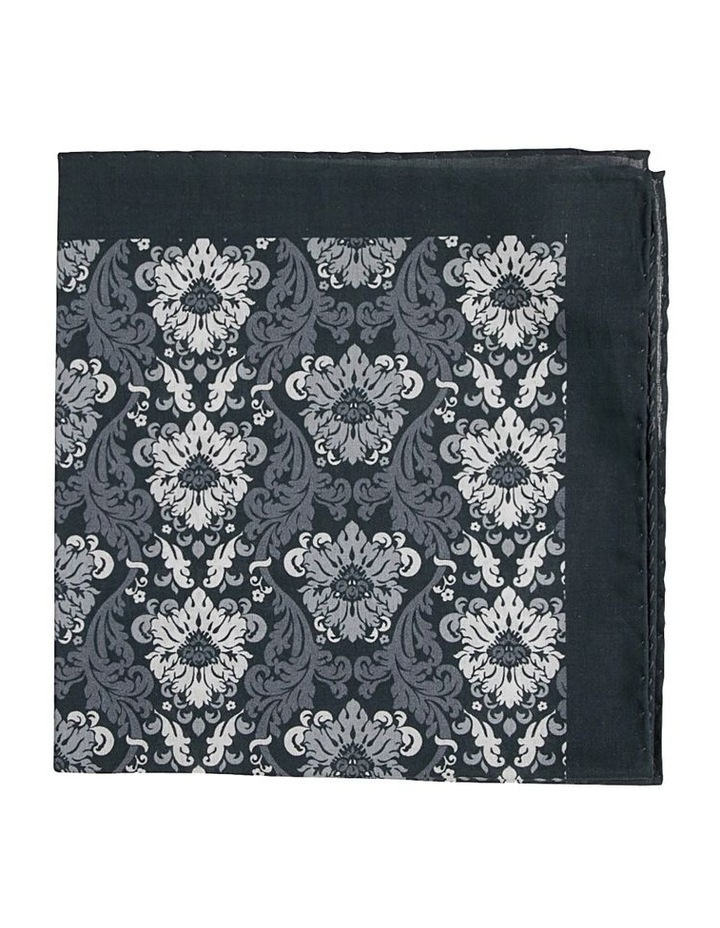 Acanthus Pocket Square Black image 1
