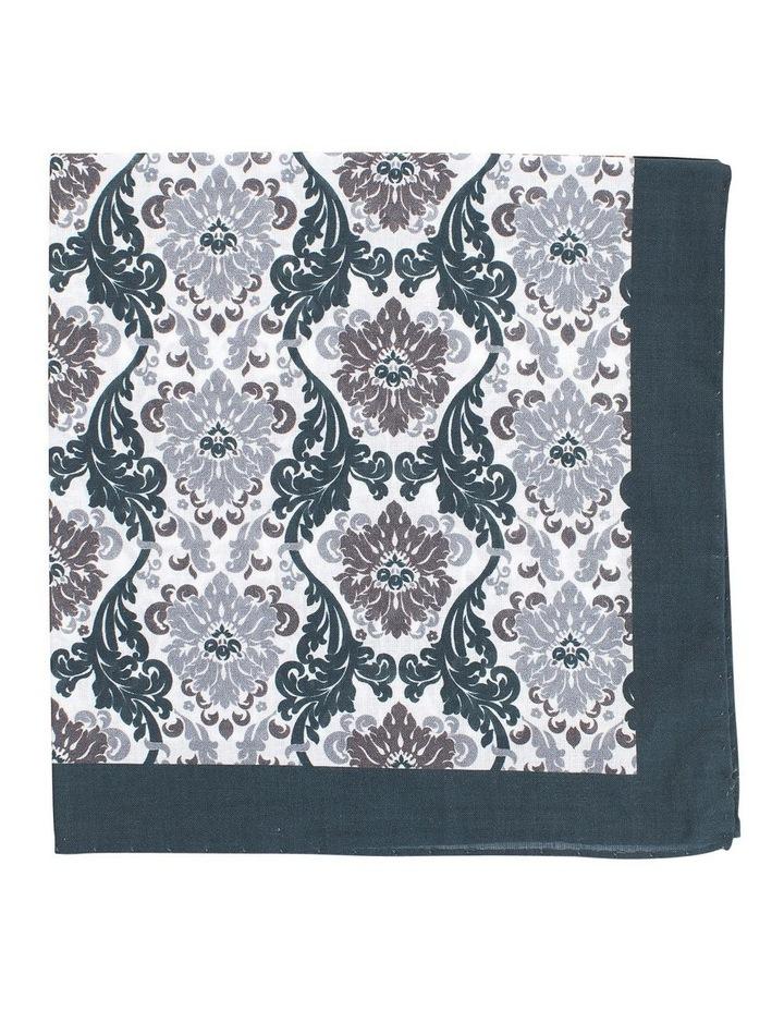Acanthus Pocket Square Black and White image 1