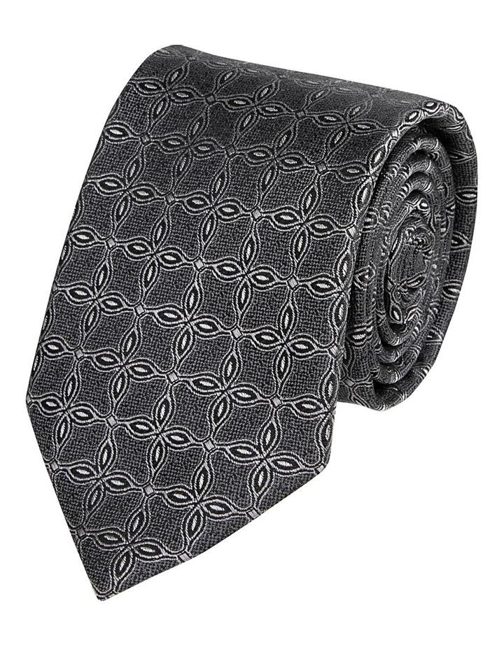 Geo Lattice Tie Grey image 1