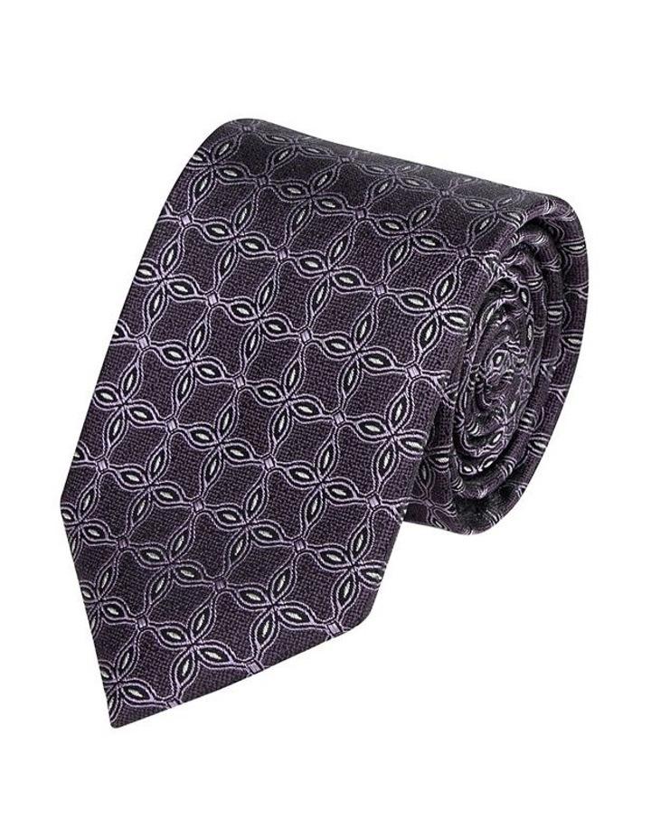 Geo Lattice Spot Tie Purple image 1