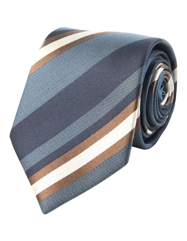 Graduated Stripe Tie Blue image 1