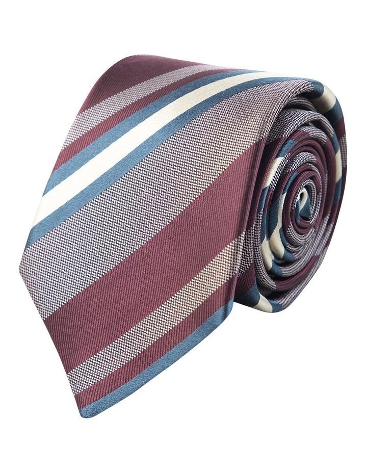 Graduated Stripe Tie Wine image 1