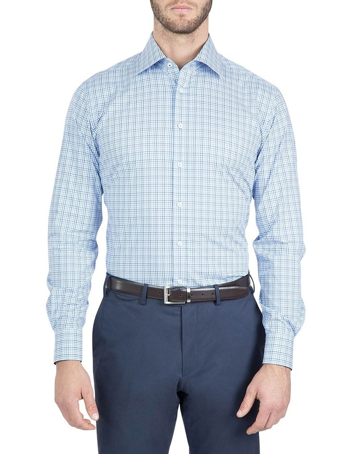 Modern Fit Blue Carlton Shirt image 1
