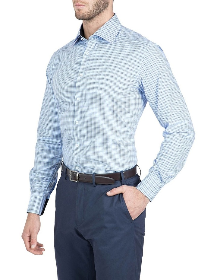Modern Fit Blue Carlton Shirt image 2