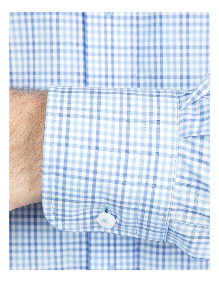 Modern Fit Blue Carlton Shirt image 4