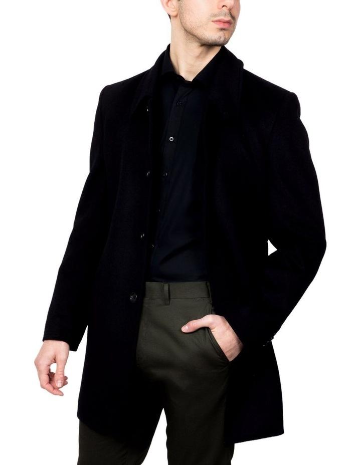 Black Lingard Overcoat FGJ640 image 1