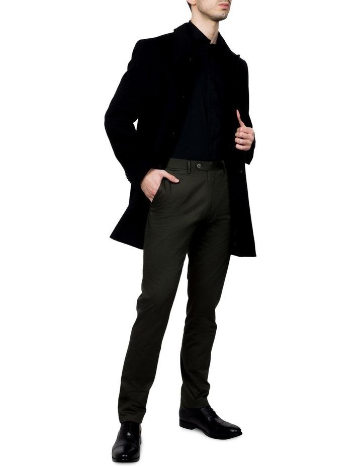 Black Lingard Overcoat FGJ640 image 2