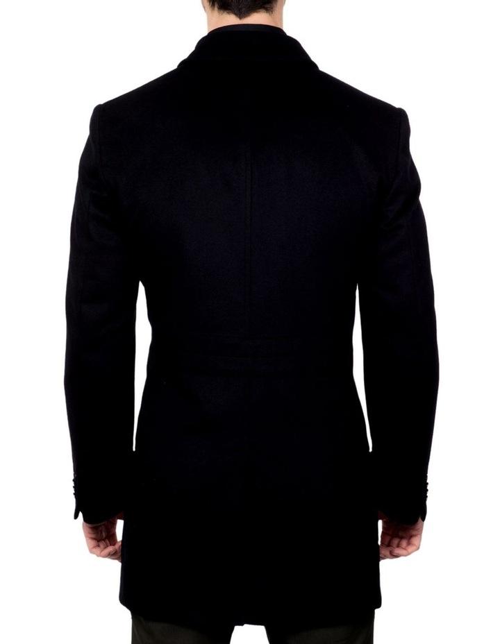 Black Lingard Overcoat FGJ640 image 3