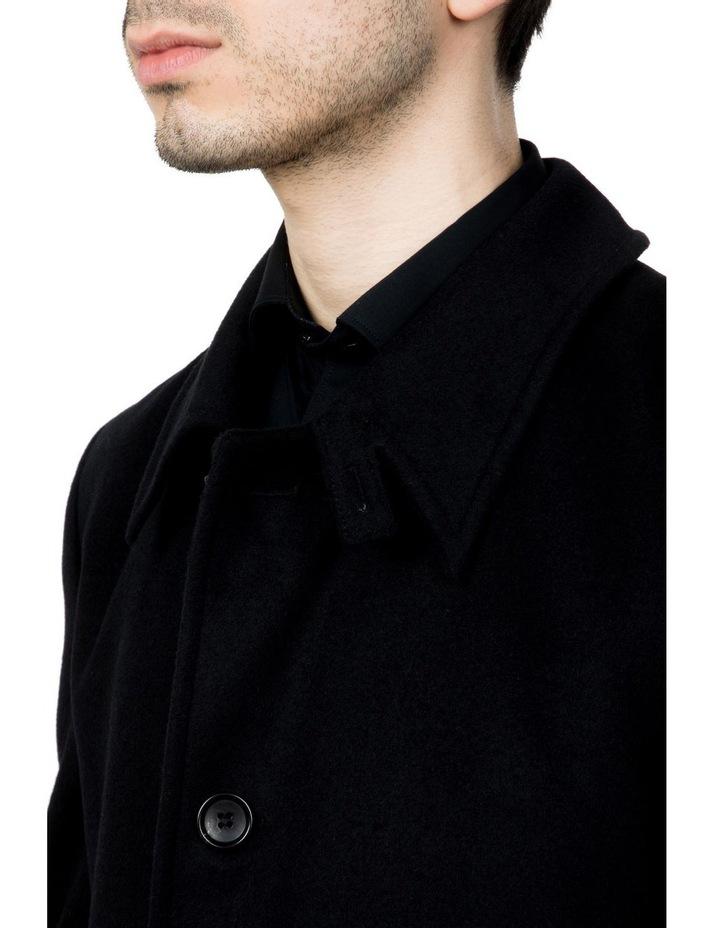 Black Lingard Overcoat FGJ640 image 4