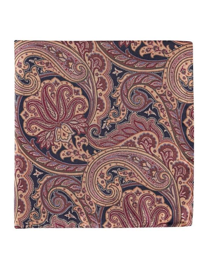 Victorian Paisley Silk Pocket Square image 1