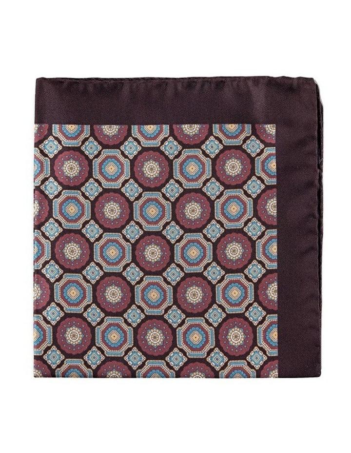 Cambridge Tesselate Silk Pocket Square image 1