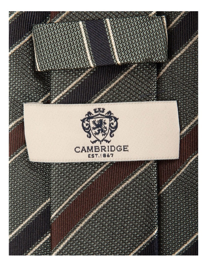 Alternate Repp Stripe Silk Tie image 2