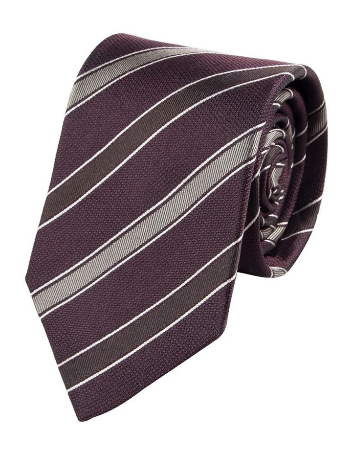 Alternate Repp Stripe Silk Tie image 1