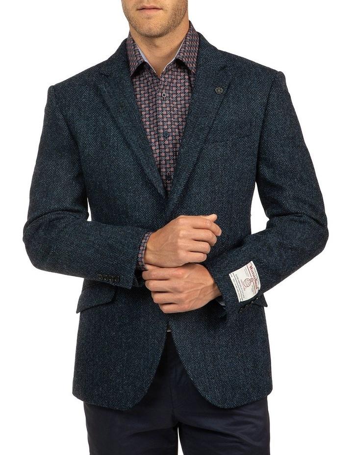 Modern Fit Blue Harris Tweed jacket image 1