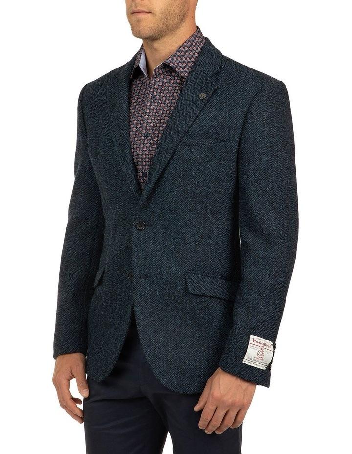 Modern Fit Blue Harris Tweed jacket image 2