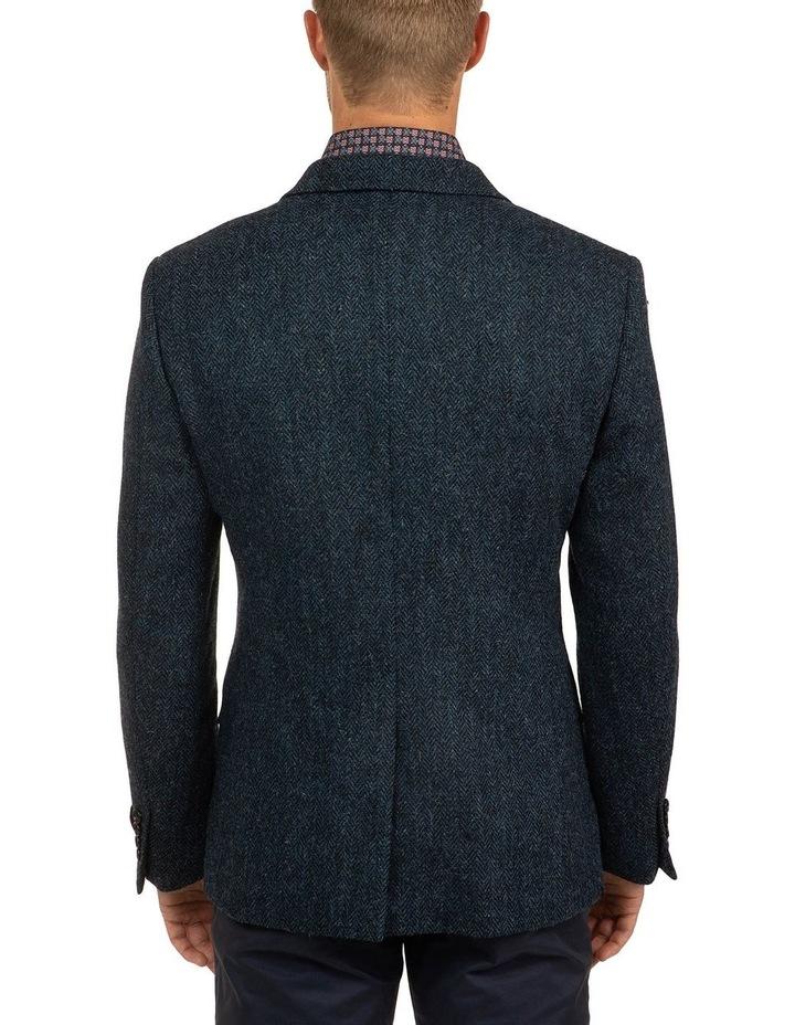 Modern Fit Blue Harris Tweed jacket image 3