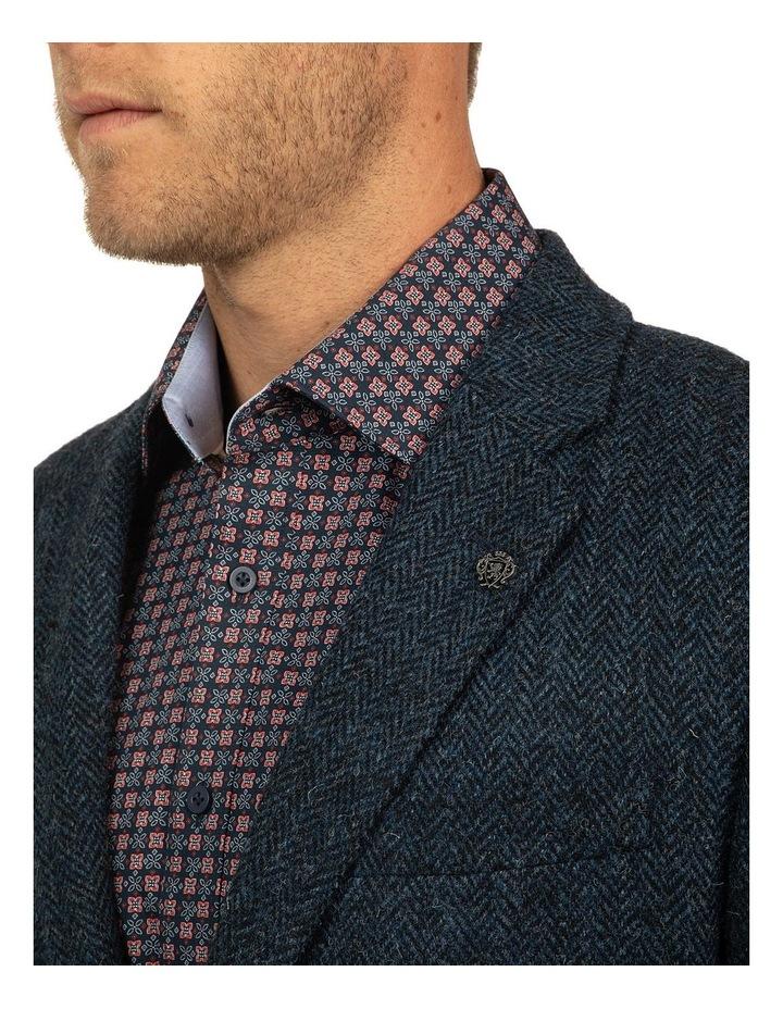Modern Fit Blue Harris Tweed jacket image 4