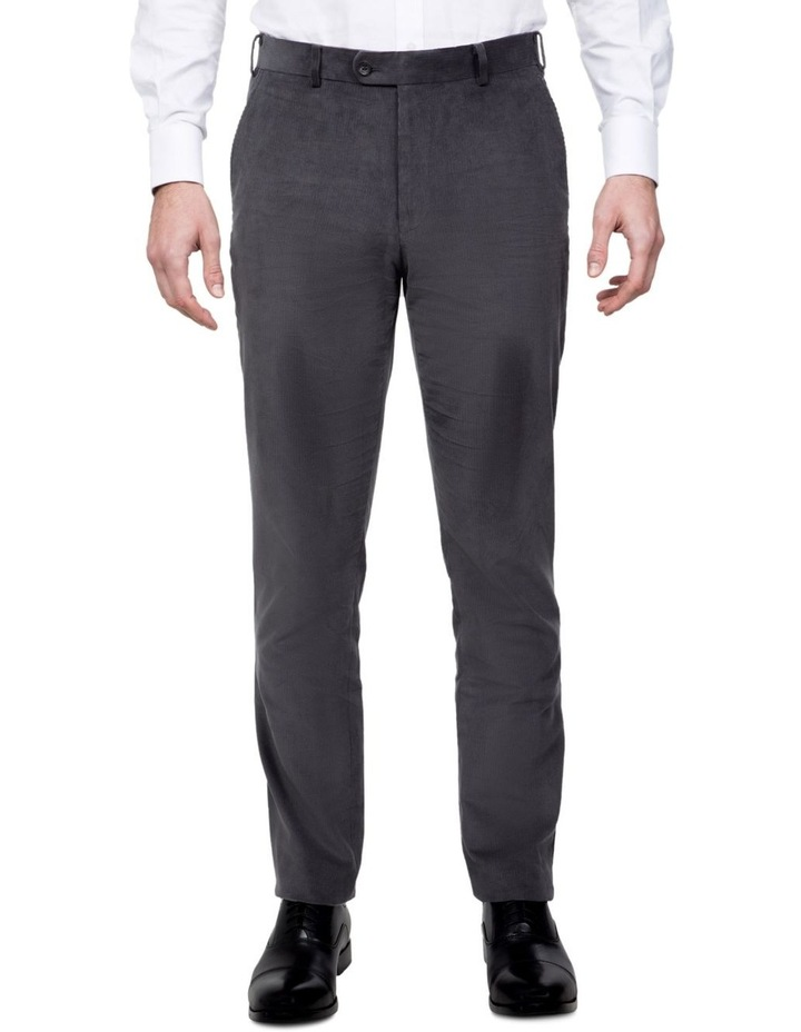 Modern Fit Grey Corduroy Fabian Pant image 1