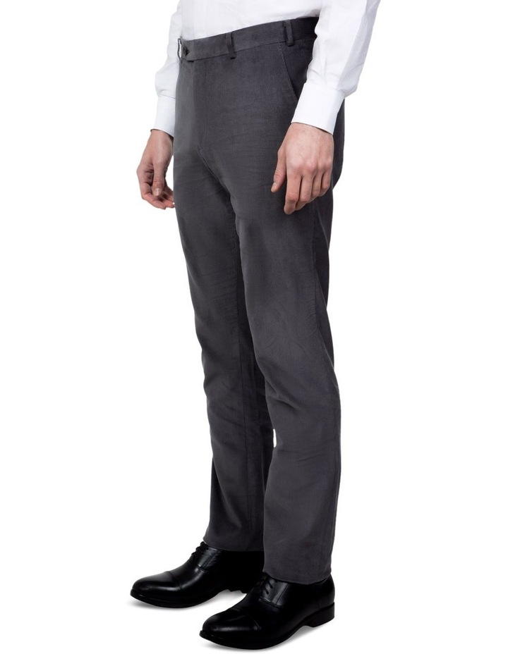 Modern Fit Grey Corduroy Fabian Pant image 2
