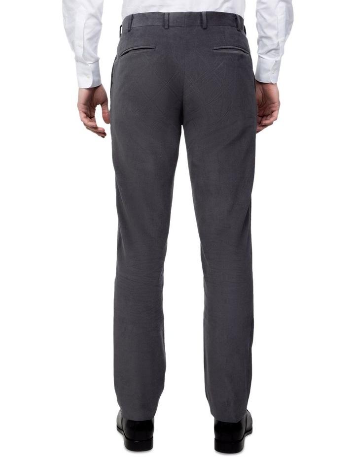 Modern Fit Grey Corduroy Fabian Pant image 3